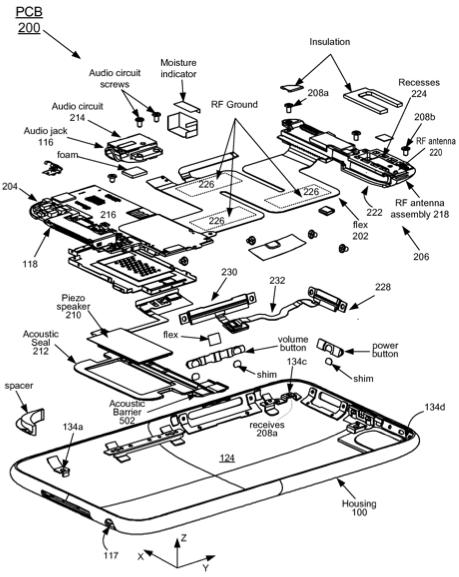 Un brevet sur le principe d'assemblage de l'iPod Touch