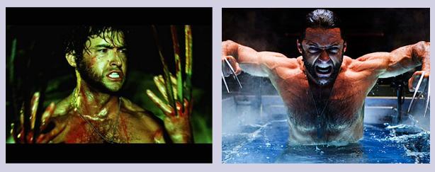 X-Men 2 et la même scène dans X-Men Origins: Wolverine.